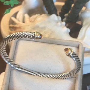 Authentic David Yurman Citrin Bracelet w/ 14kgold
